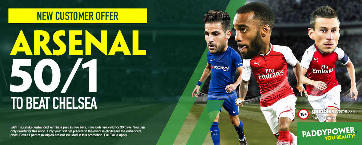 Arsenal v Chelsea: 50/1 enhanced odds, betting tips and