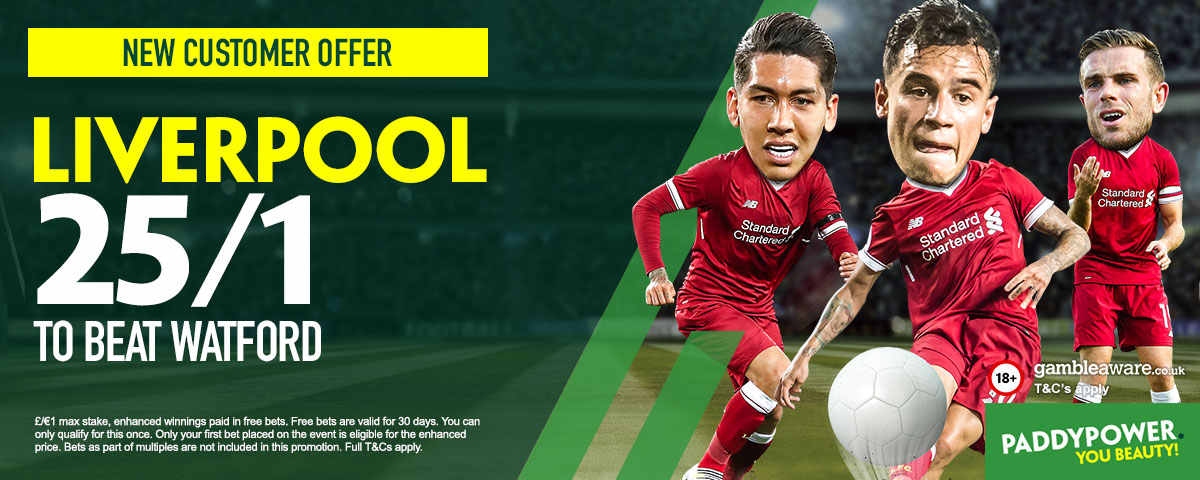 Watford v Liverpool: 25/1 enhanced odds, prediction and betting tips