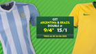 Betting tips: Get 15/1 enhanced odds on Argentina and Brazil to win