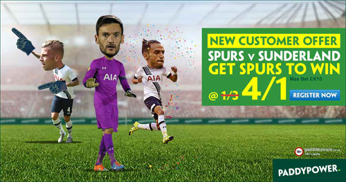 tottenham sunderland enhanced odds