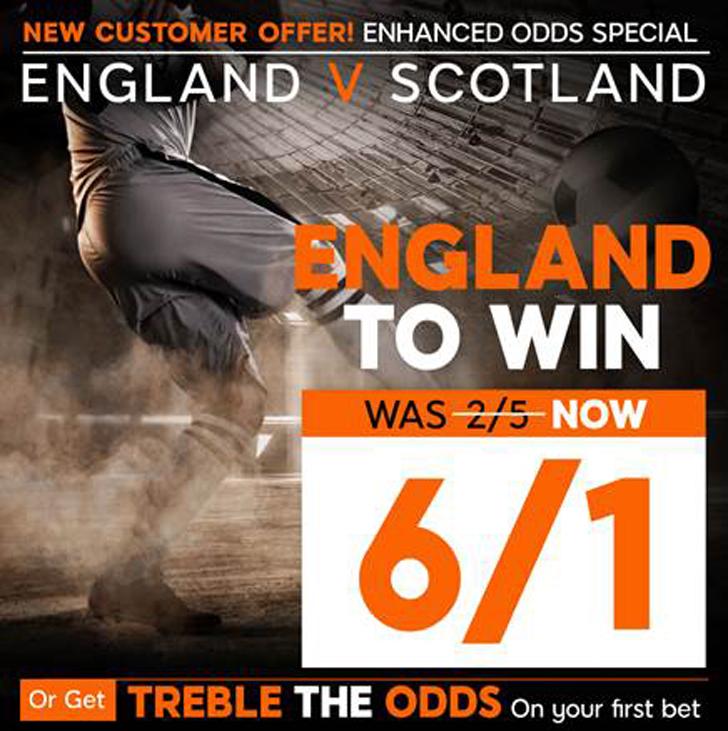 England v Scotland betting: 28/1 enhanced odds, prediction and tips