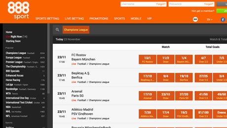 888sport review: Sports betting and bookmaker review