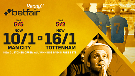 Stoke v Man United, Man City v Tottenham: 20/1 enhanced odds, kick-off time and TV channel