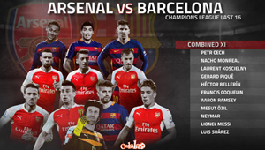 Shocking stats show Arsenal dominate Barcelona in combined XI