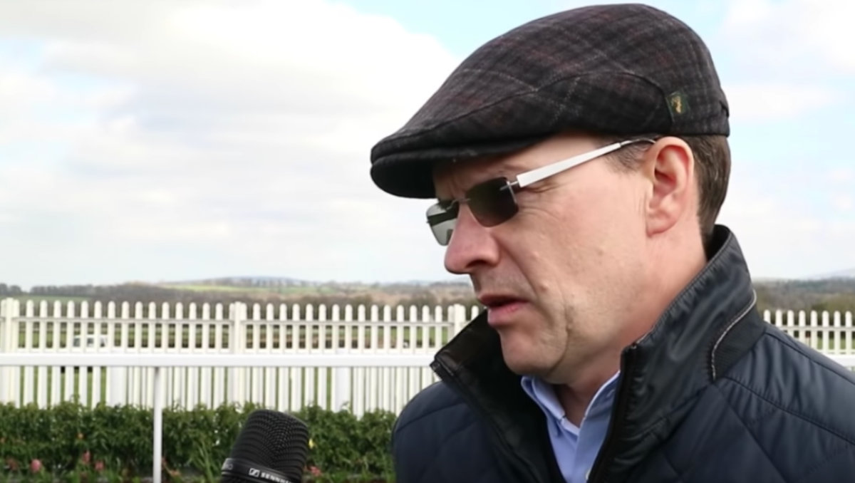 Irish trainer Aidan O'Brien (Photo: Youtube / Screen grab)