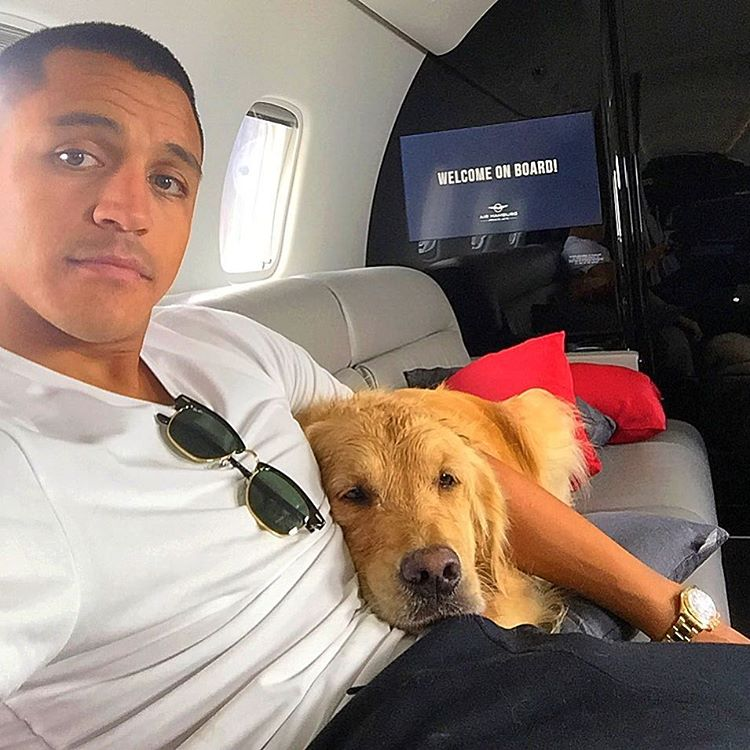 Image result for alexis sanchez private jet