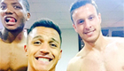 Photo: Arsenal star Alexis Sanchez posts topless selfie with Chile pals