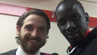 Photo: Mamadou Sakho all smiles with Liverpool hero Joe Allen