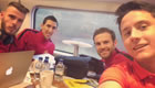 Photo: Herrera snaps selfie with Mata on Man Utd train ahead of Arsenal trip
