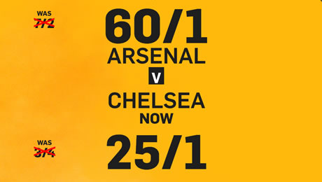 Arsenal v Chelsea: 60/1 enhanced odds, betting tips and FA Cup final prediction