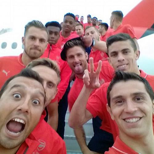 arsenal selfie