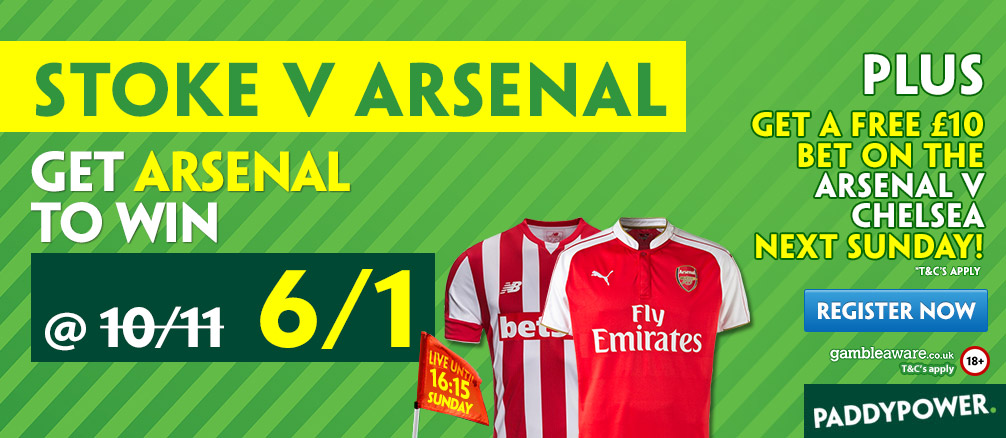 arsenal stoke enhanced odds
