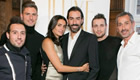 Arsenal trio pose with legend Pires