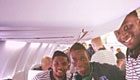 Photo: Everton striker jets off to Russia with Romelu Lukaku and Samuel Eto'o