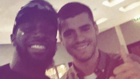 Photo: Chelsea new boy welcomes Alvaro Morata to Cobham