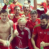 Ramsey celebrates Wales feat with Bale