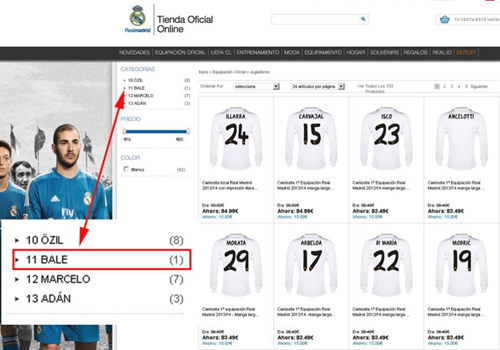 fe181b87860f4d Real Madrid s online store has Gareth Bale shirts available