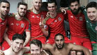 Bale takes Wales dressing room snap