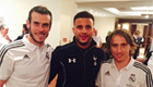 Photo: Gareth Bale and Luka Modric catch up with Tottenham star