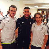 Bale and Modric catch up with Tottenham star