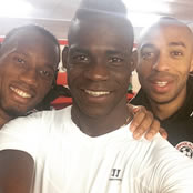 Balotelli snaps selfie with Drogba and Henry