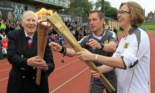 Sir Roger Bannister olympic torch relay