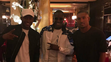 Photo: Michy Batshuayi heads for 'family dinner' with reported Chelsea target
