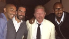 Photo: Chelsea fan Boris Becker rings in New Year… with THREE ex-Arsenal stars