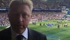 Photo: Boris Becker watches Chelsea win Premier League title