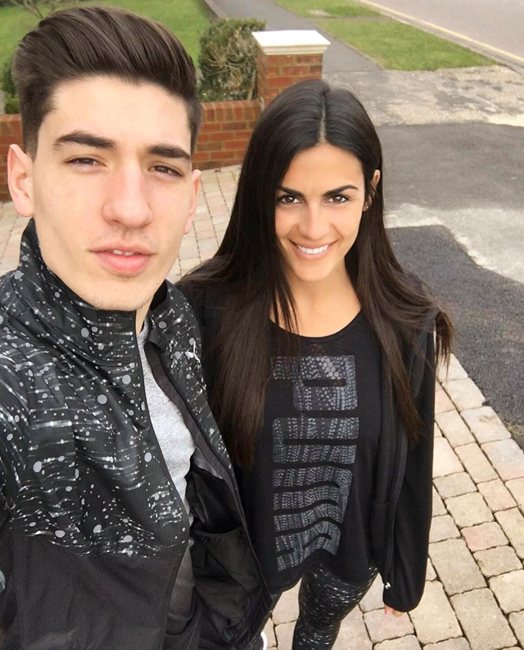 hector bellerin girlfriend