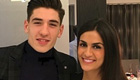 Photo: Hector Bellerin all smiles with his stunning girlfriend ahead of Arsenal v Leicester