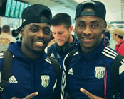 Photo: Saido Berahino rallies Baggies ahead of Man Utd clash
