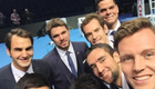 Murray poses with ATP World Tour Finals line-up