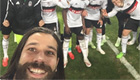 Photo: Besitkas take selfie on the pitch after beating Liverpool