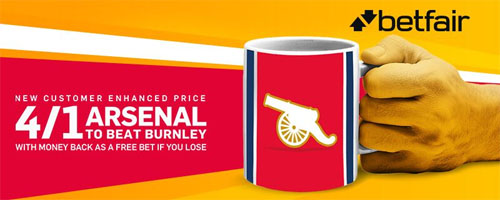 arsenal v burnley enhanced odds