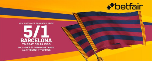 barcelona enhanced odds