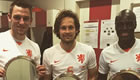 Photo: Man Utd's Daley Blind celebrates Netherlands milestone