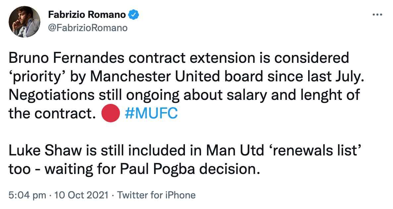 Bruno Fernandes contract