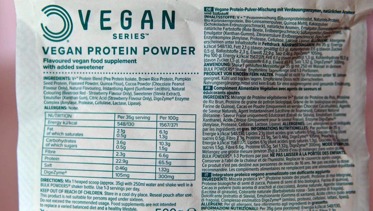Bulk Powders Vegan Protein Powder