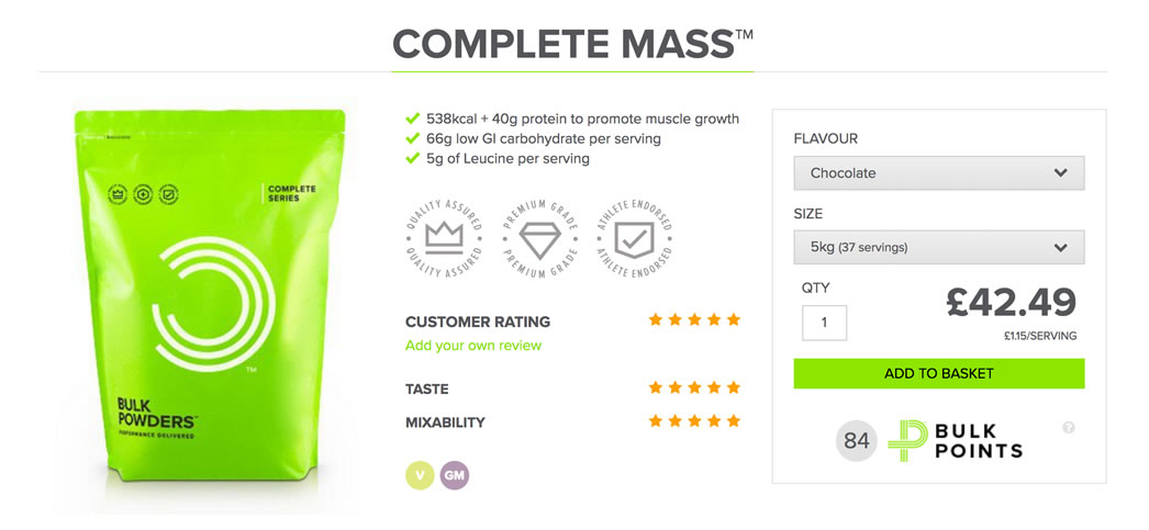 bulk powders website complete mass