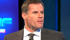 Carragher reacts to Vardy's record goal v Man Utd