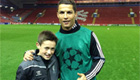Photo: Carragher's son meets Ronaldo as Madrid gear up for Liverpool