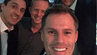 Photo: Former Liverpool star Jamie Carragher meets AC Milan legend