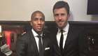 Photo: Michael Carrick and Ashley Young look sharp for Man Utd dinner