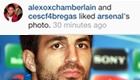 Photo: Cesc Fàbregas 'likes' Arsenal's Abou Diaby Instagram post