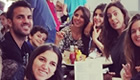 Photo: Chelsea's Cesc Fàbregas enjoys Sunday lunch with girlfriend and sister