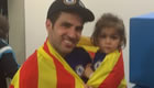 Cesc celebrates title win with his daughter