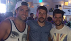 Fabregas parties with friends on holiday