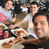 Fabregas joins Chelsea duo for team BBQ