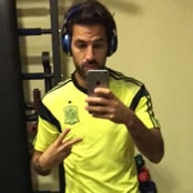Fabregas hits the gym